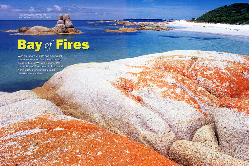 Bay of Fires feature for Australian Geographic