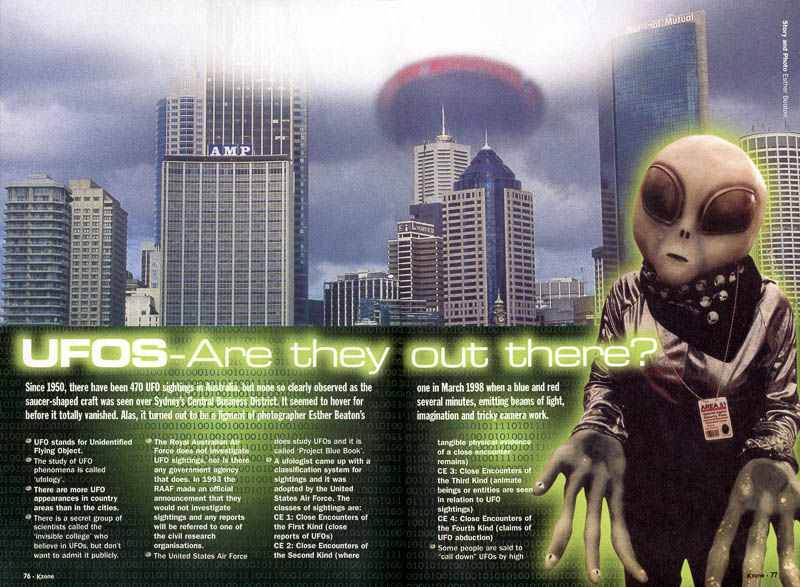 UFO's Are They Out There KZone magazine feature