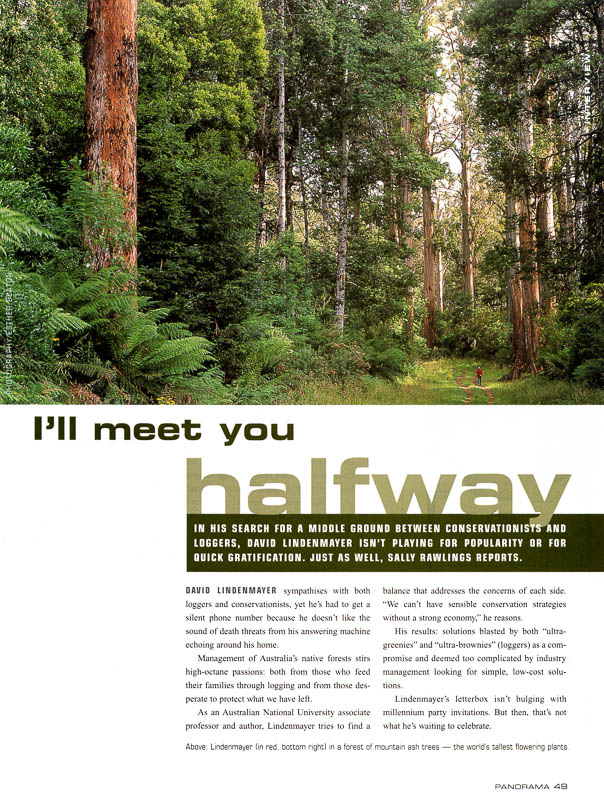I'll Meet You Halfway feature for Panorama magazine